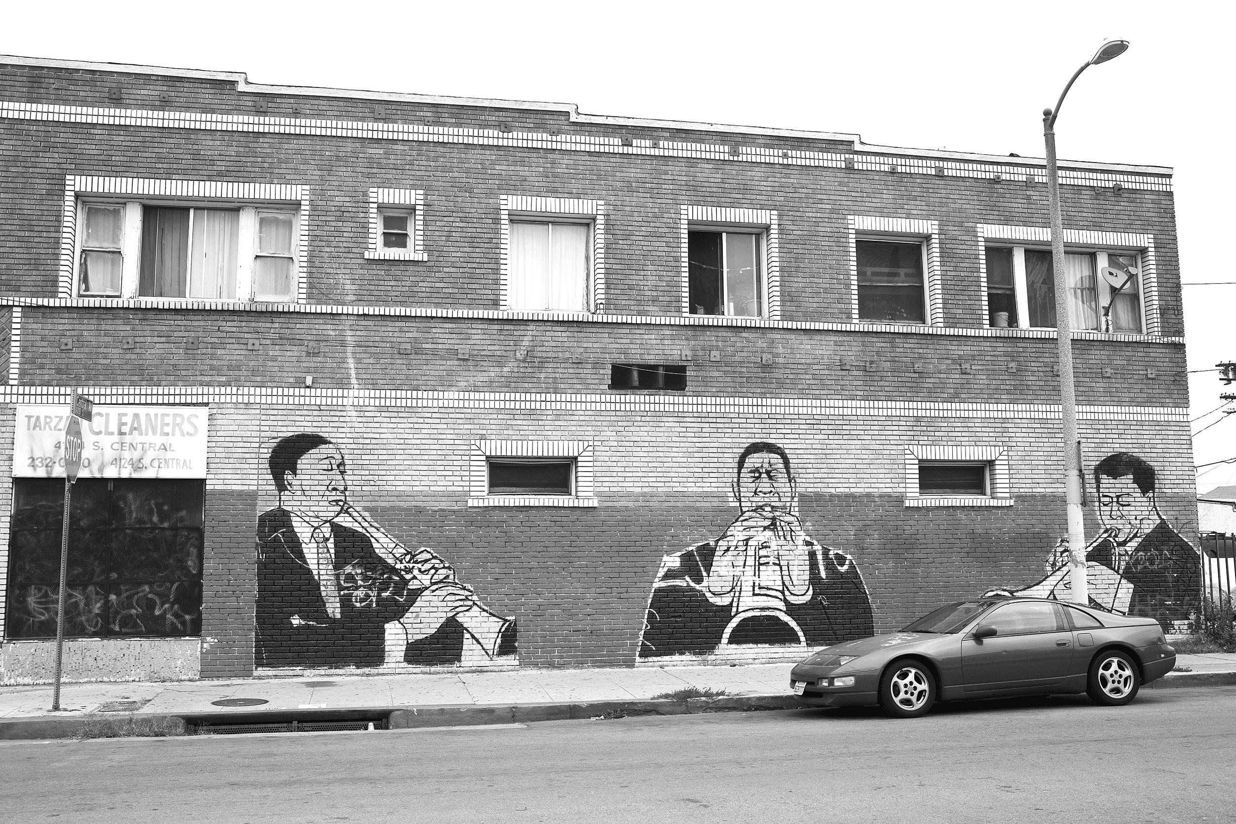 "Jazz musicians mural, Central Avenue, South Los Angeles. 2009.                                0     false             18 pt     18 pt     0     0         false     false     false                                                     /* Style Definitions */ table.MsoNormalTable {mso-style-name:""Table Normal""; mso-tstyle-rowband-size:0; mso-tstyle-colband-size:0; mso-style-noshow:yes; mso-style-parent:""""; mso-padding-alt:0in 5.4pt 0in 5.4pt; mso-para-margin:0in; mso-para-margin-bottom:.0001pt; mso-pagination:widow-orphan; font-size:10.0pt; font-family:""Times New Roman"";}"