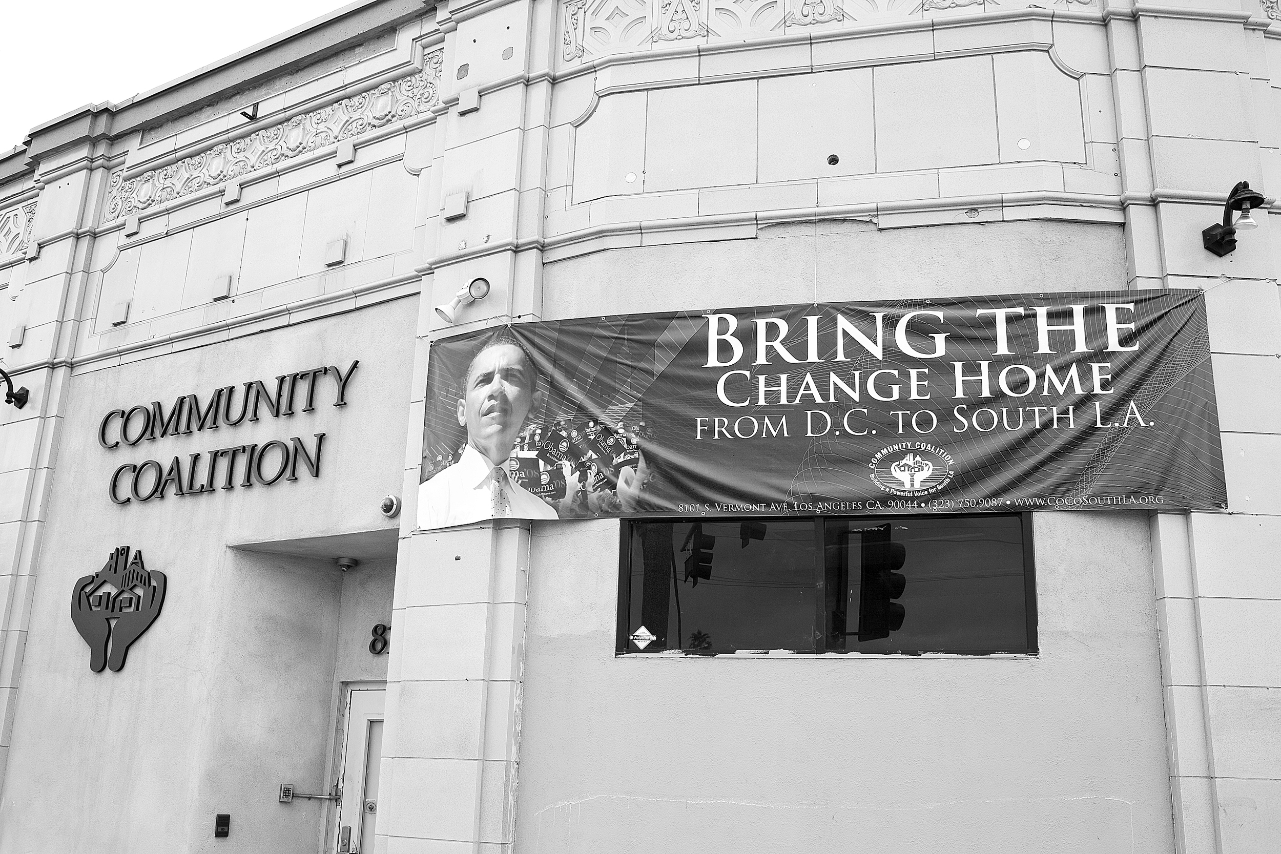"""""""Bring the Change Home from D.C. to South L.A,"""" Community Coalition, South Los Angeles. Nonprofit and social justice organizations are an essential part of South Los Angeles's landscape. 2009.                                0     false             18 pt     18 pt     0     0         false     false     false                                                     /* Style Definitions */ table.MsoNormalTable {mso-style-name:""""Table Normal""""; mso-tstyle-rowband-size:0; mso-tstyle-colband-size:0; mso-style-noshow:yes; mso-style-parent:""""""""; mso-padding-alt:0in 5.4pt 0in 5.4pt; mso-para-margin:0in; mso-para-margin-bottom:.0001pt; mso-pagination:widow-orphan; font-size:10.0pt; font-family:""""Times New Roman"""";}"""