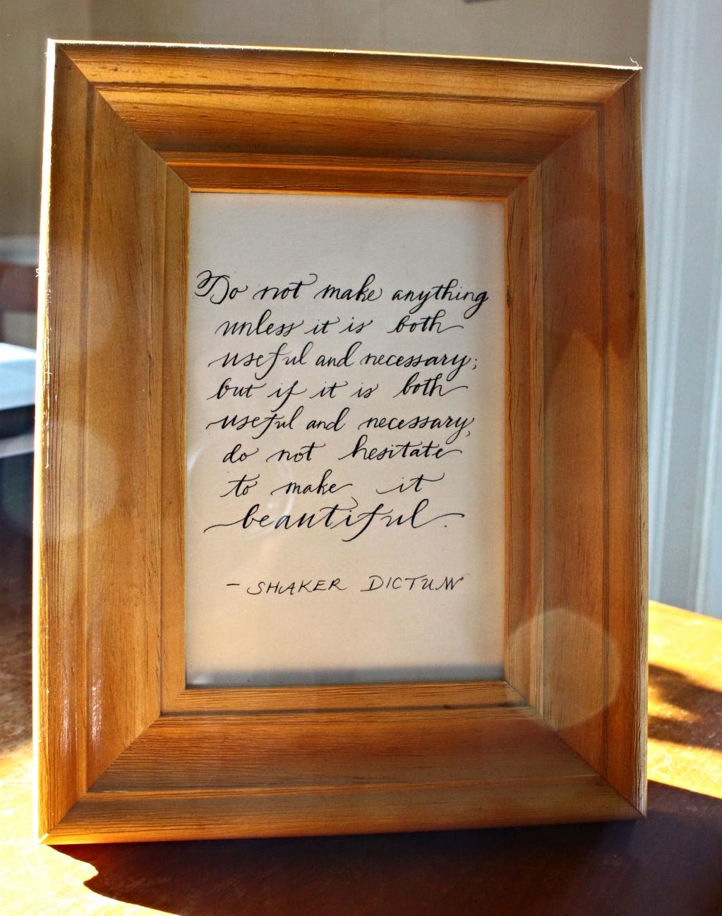 Another view of the Shaker quote.