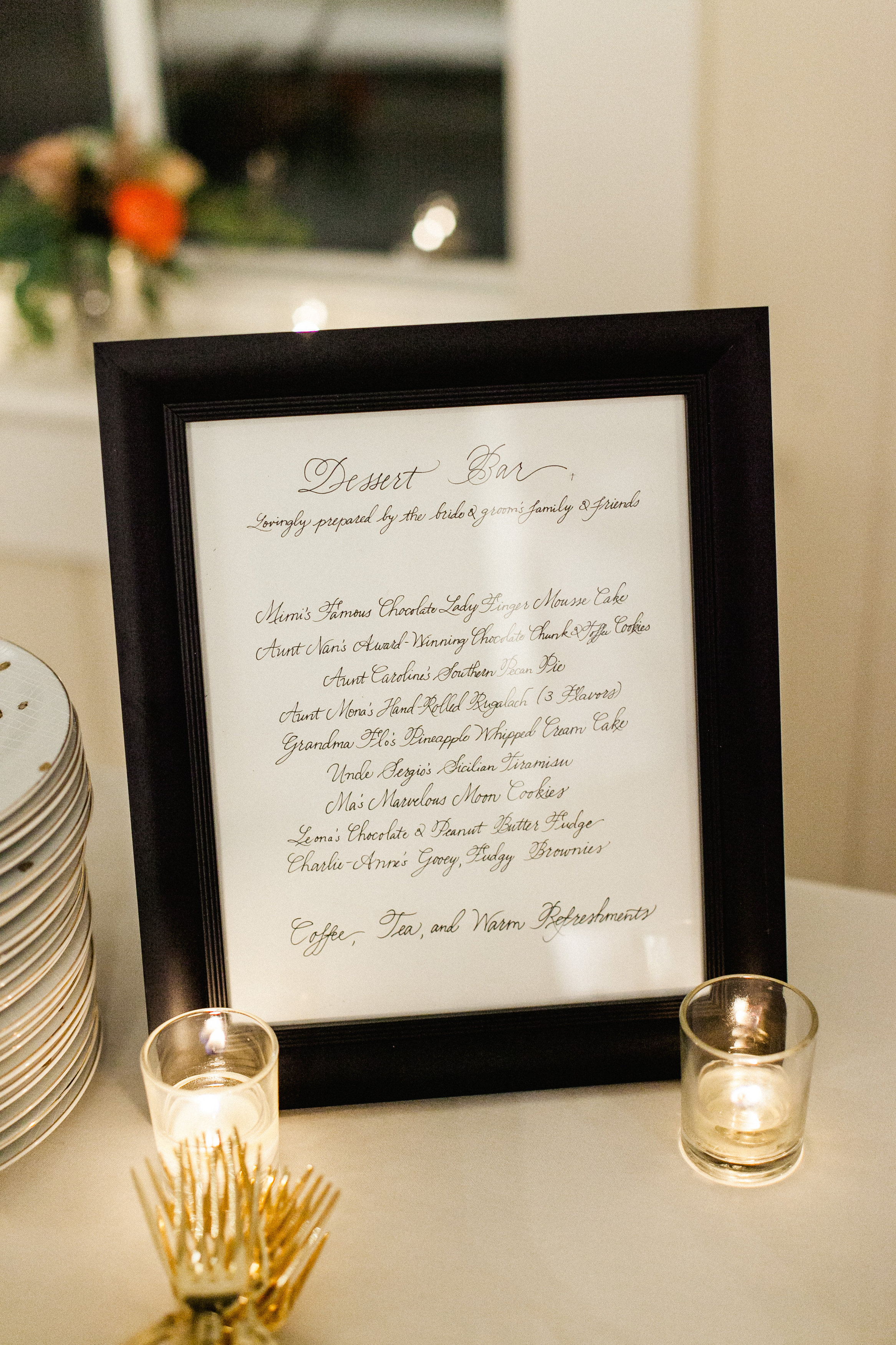 Dessert table sign / Photo by Morgan Trinker Photography