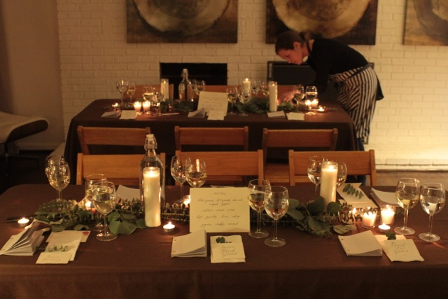 (c) Lauren Plank Goans / Chez Le Commis dinner for New City Arts