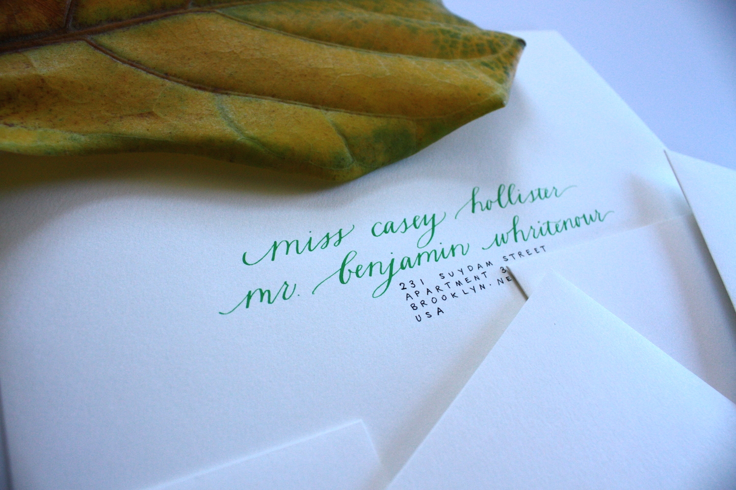 Envelopes for a Dutch wedding / Bluestocking Calligraphy