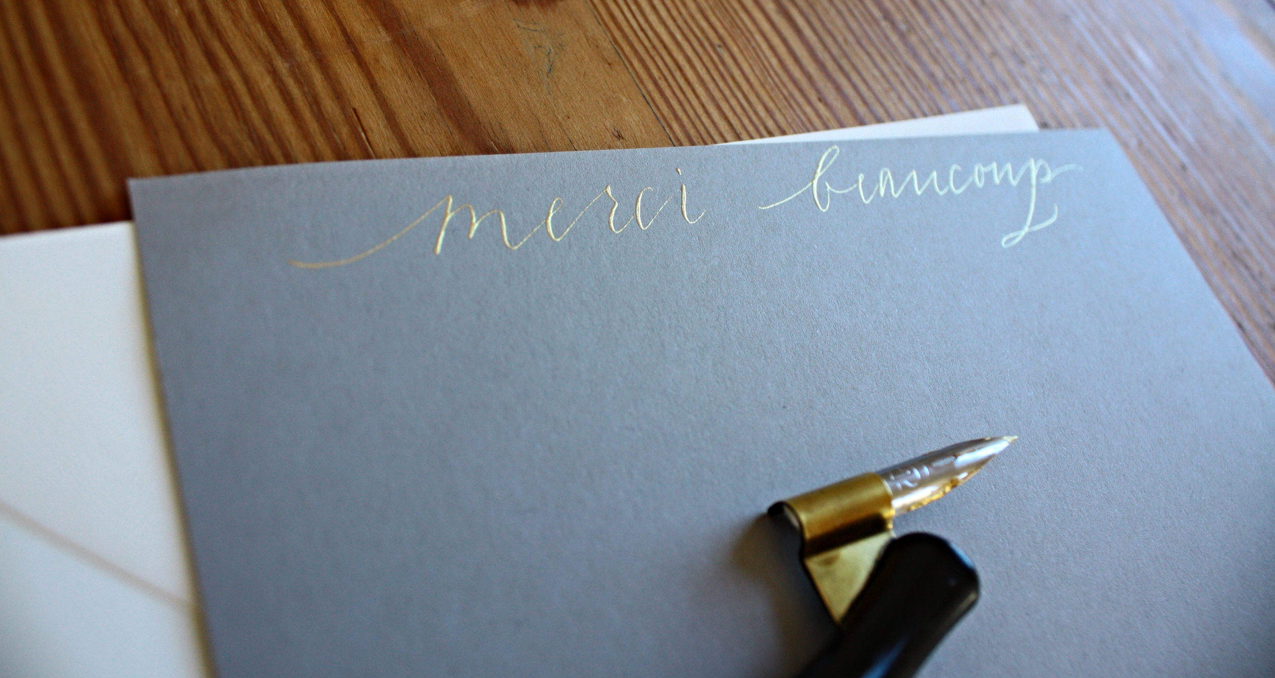 Personal stationery by Bluestocking Calligraphy