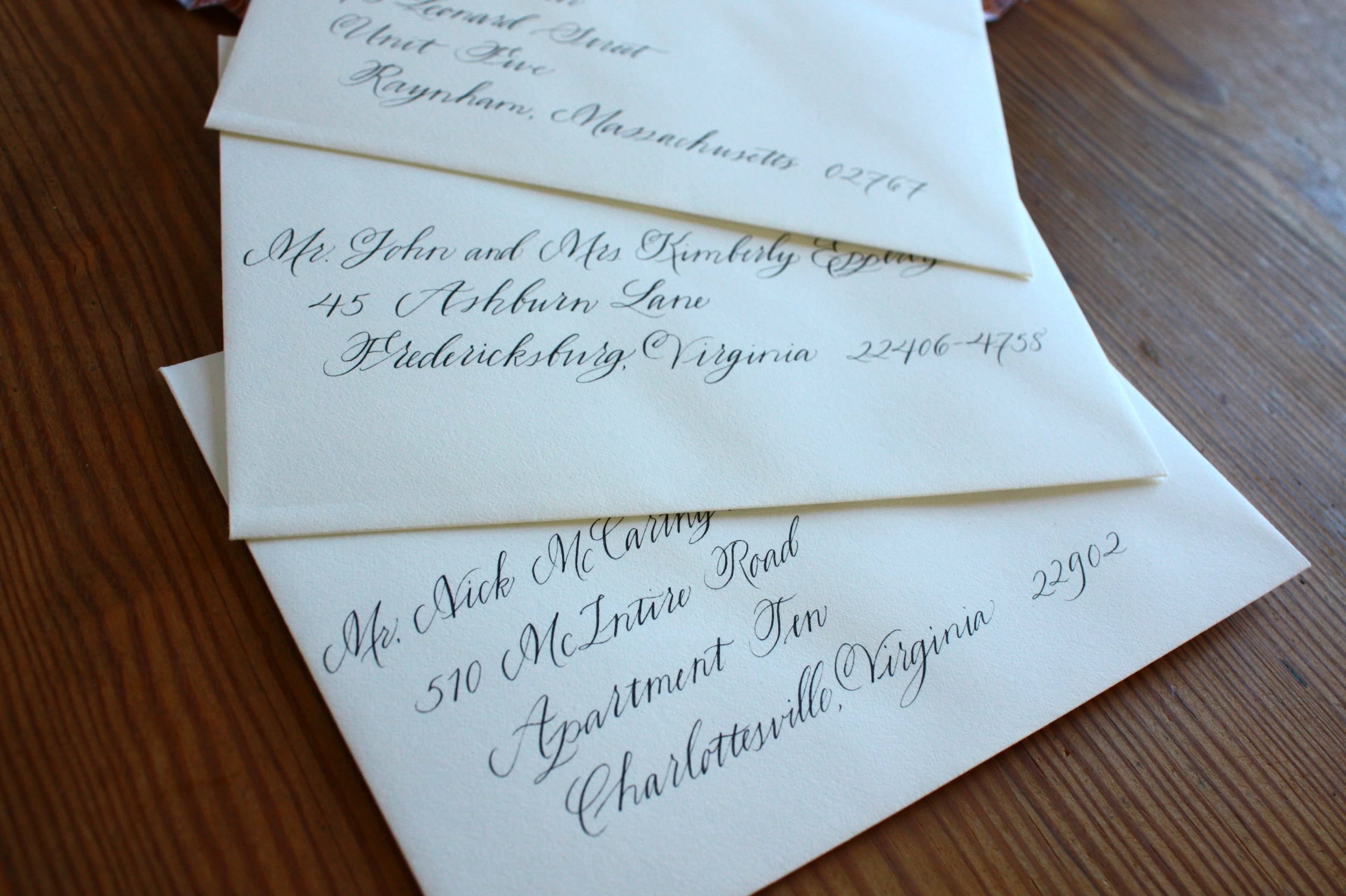 Bluestocking Calligraphy / Charlottesville wedding calligrapher