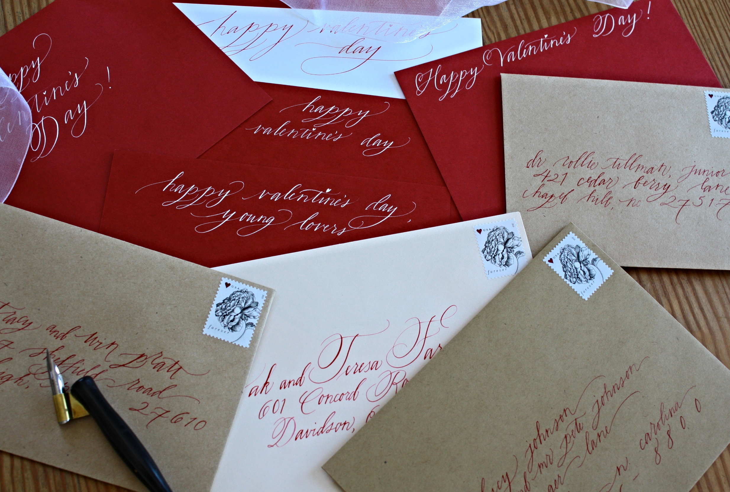 Bluestocking Calligraphy / Valentine's Day cards