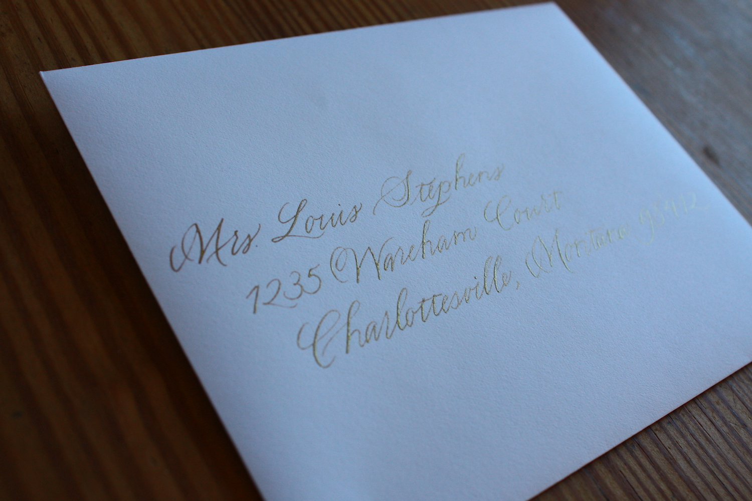 Traditional way to address an envelope to a widow / Bluestocking Calligraphy