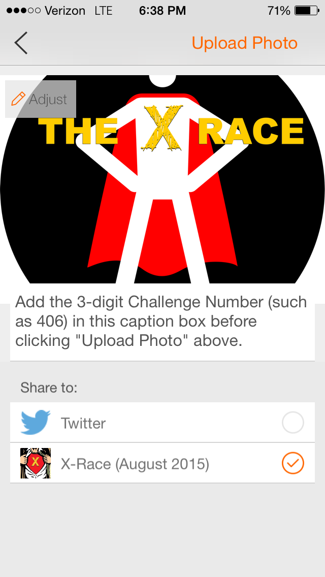 How to add the 3-digit Challenge Number to your photo or video submission.