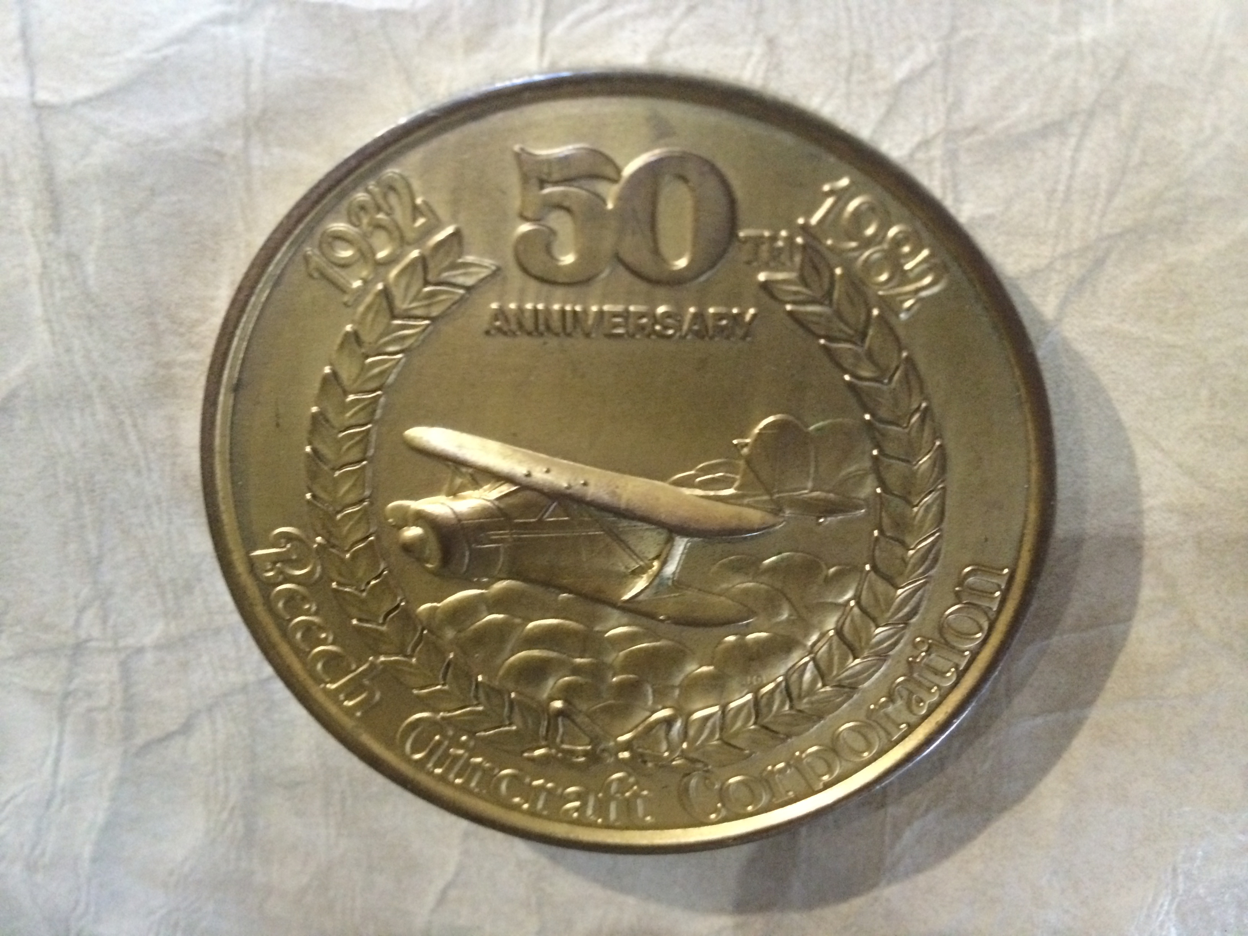 Beechcraft airplanes built in 1982 had this medal attached.