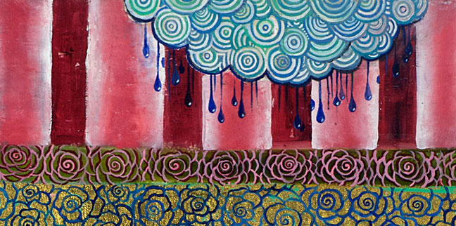 Detail, Interlocking Forest with Rain