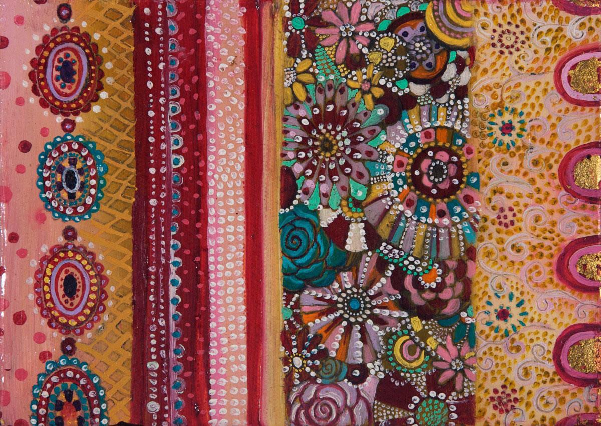 Detail, Miniature Textile (Pink)