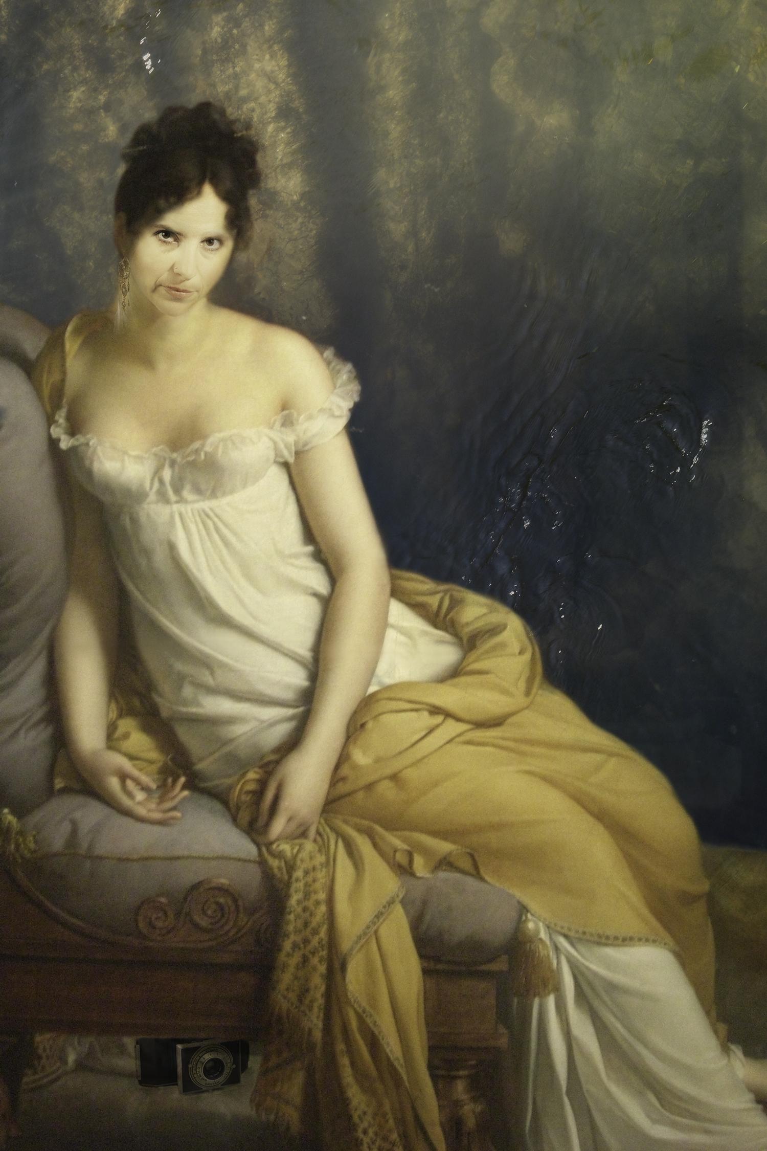 Myself as Madame Récamier (1800-2015) - Original by Jacques-Louis David