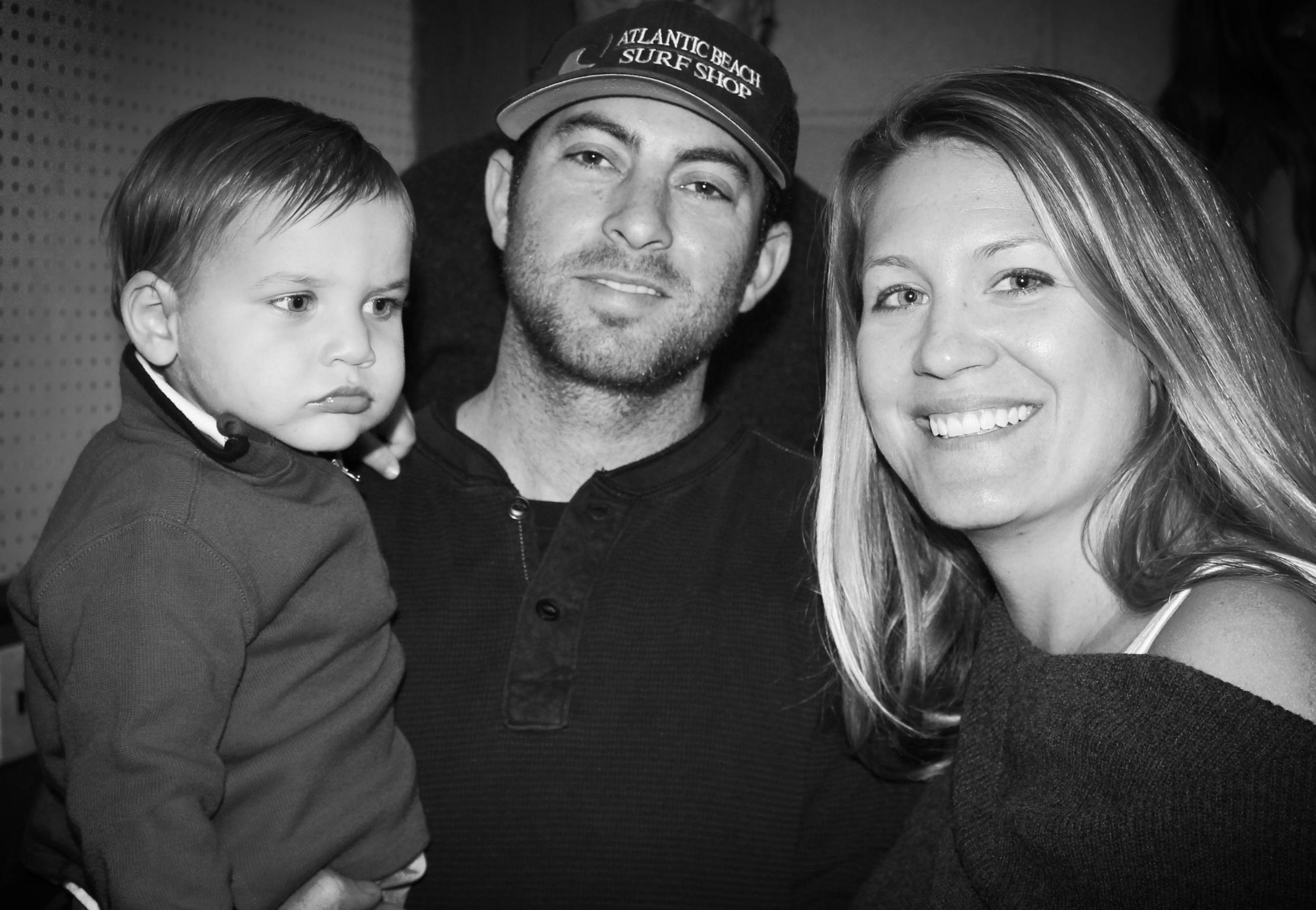 Joseph, his wife Marissa, and son Logan