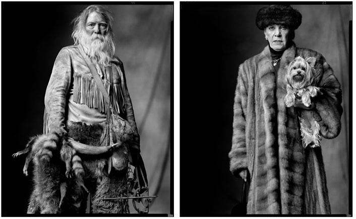 fur trapper / rich lady