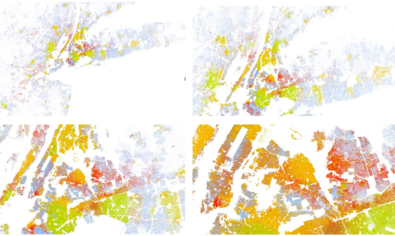 New York. corporeality (and color) based on magnification. (Click to enlarge.)