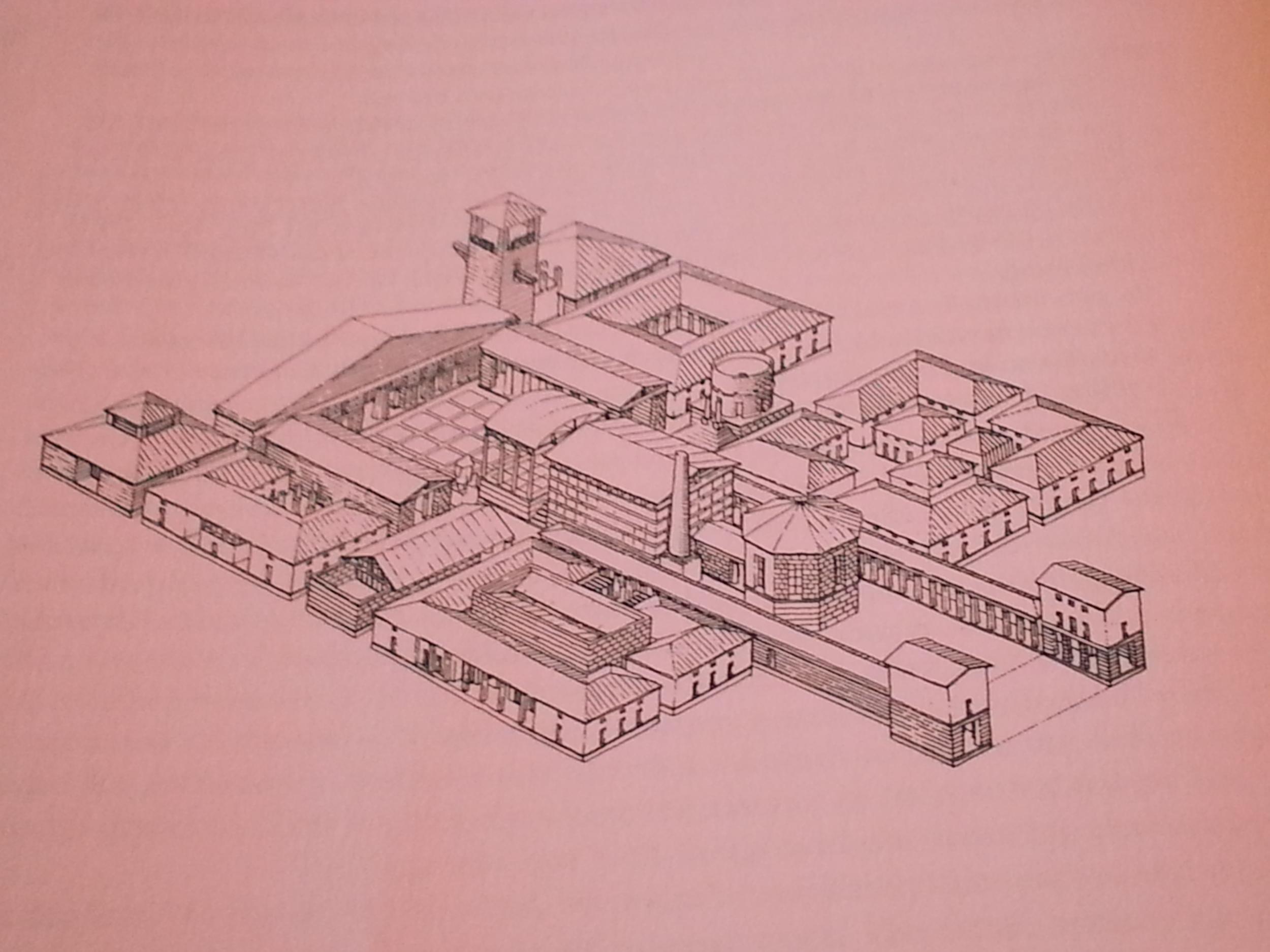 Leon Krier, Sketch of the School at Quentin-en-Yvelines, 1977-1979.
