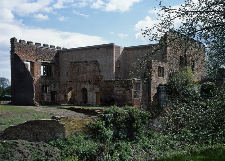Astley Castle 'Renovation,' Witherford Watson Mann, England, 2013. A house inserted into a ruin, framing parts, displaying parts, hiding behind parts.