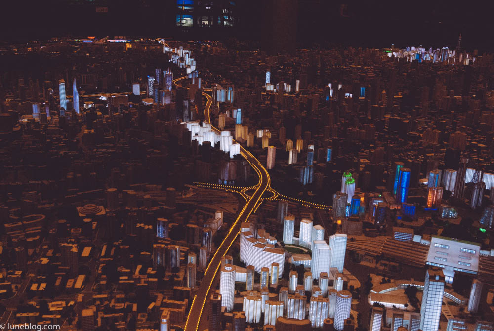 A visit to the Shanghai Urban Planning Exhibition Hall reveals huge scale model of the city c/w night lighting!