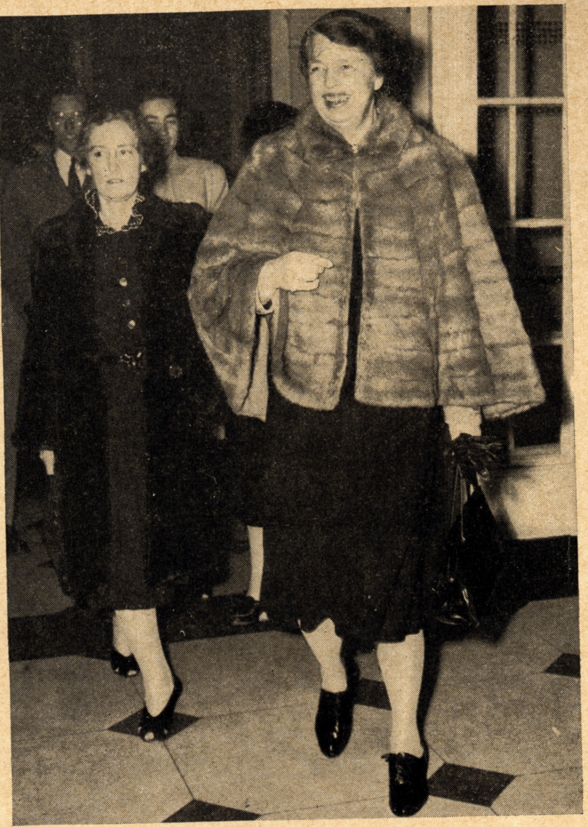 "Eleanor Roosevelt attending the ""We Will Never Die"" pageant in Washington, DC in 1943. Credit: Courtesy of The David S. Wyman Institute for Holocaust Studies."