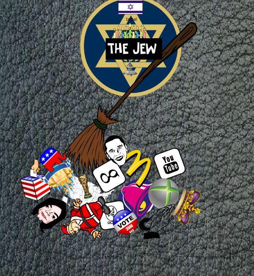 Modern anti-Semitic propaganda from the International People's Party. Credit: Herr Wolf.