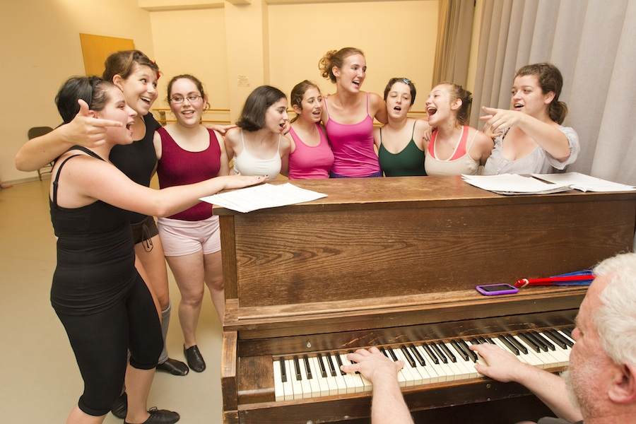 Click photo to download. Caption: Theater at the Passport NYC Jewish camp in New York City. Credit: Andrew Sherman/92Y Passport NYC.