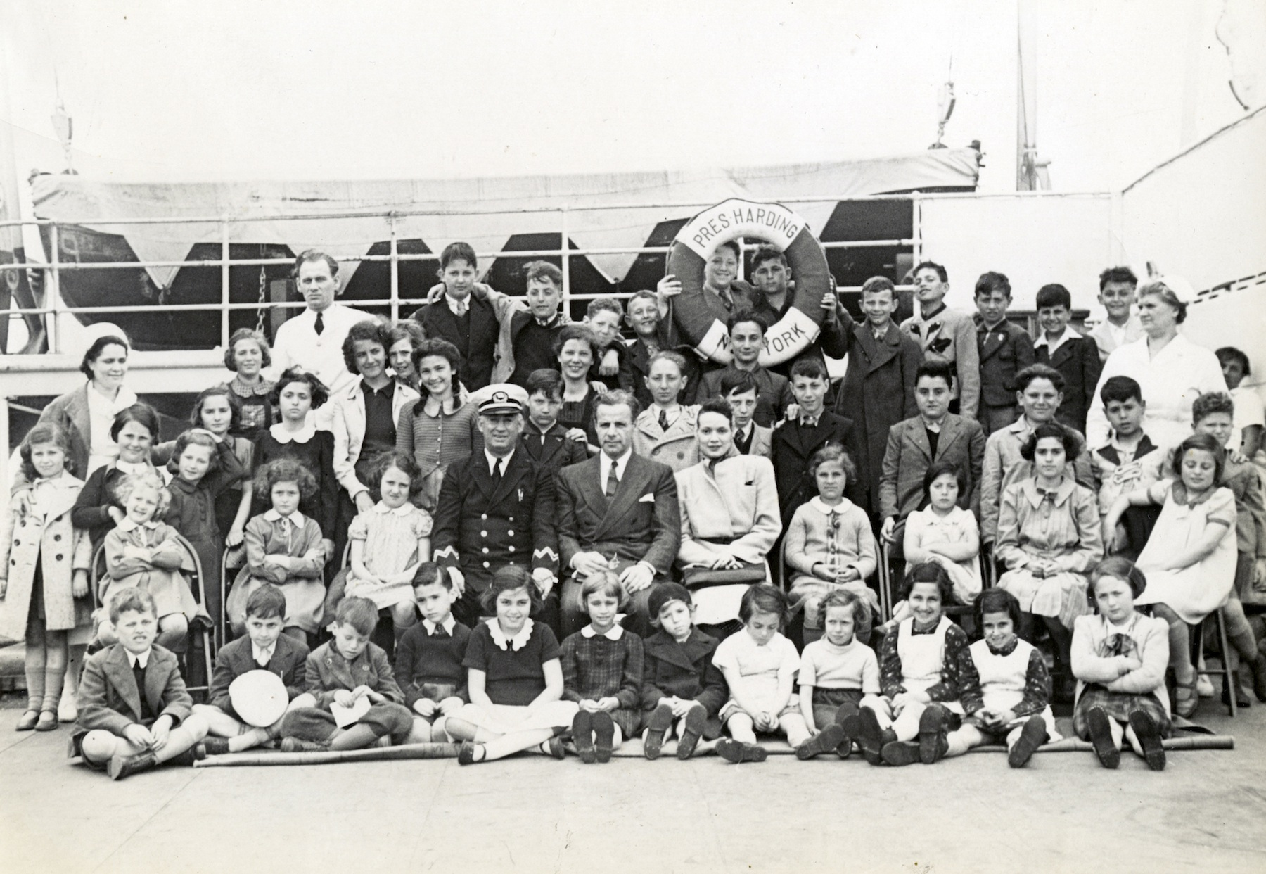 Click photo to download. Caption: The children rescued by Gilbert and Eleanor Kraus. Credit: Courtesy HBO.