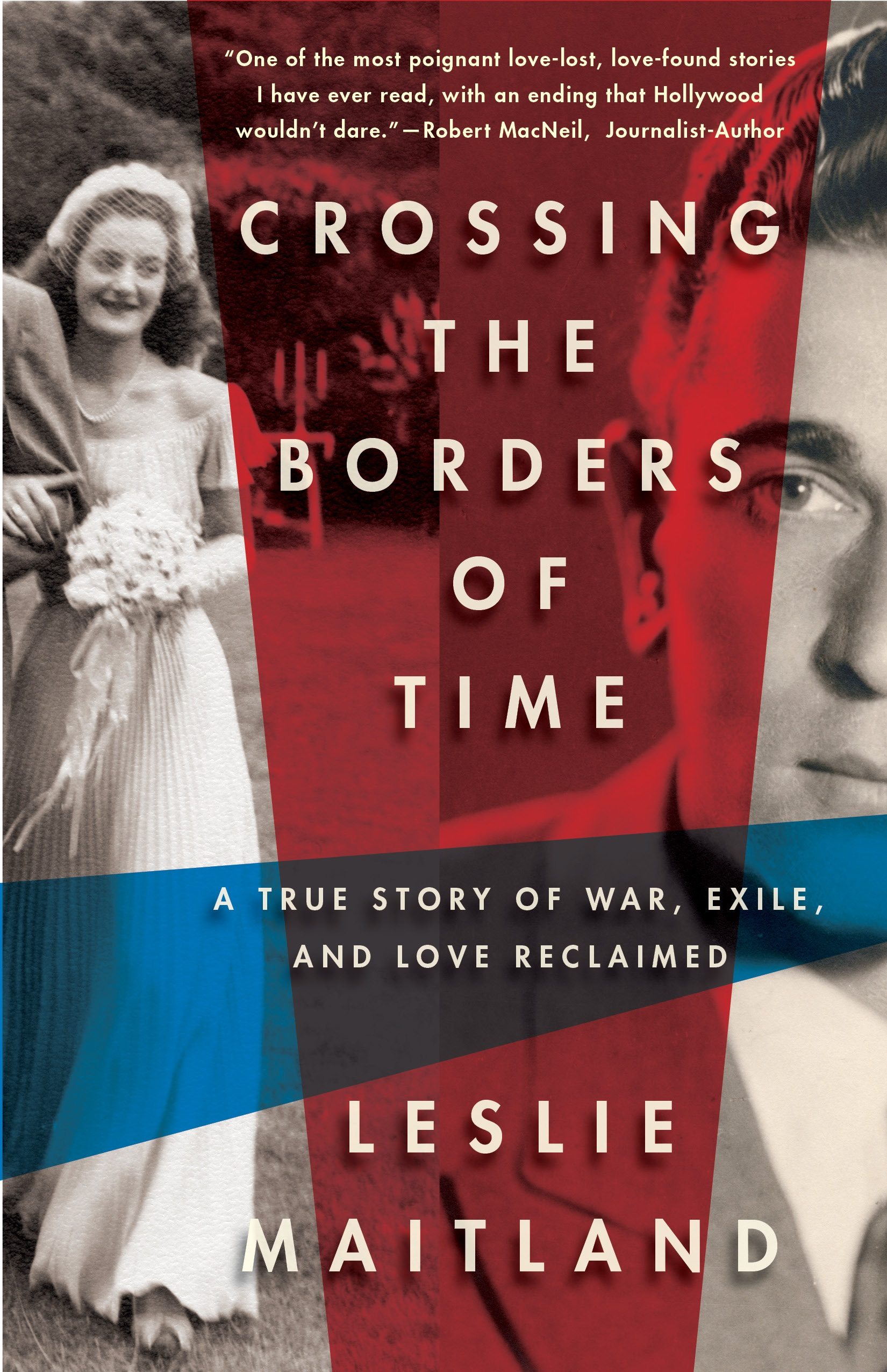 """Click photo to download. Caption: The cover of """"Crossing the Borders of Time,"""" a book by Leslie Maitland recounting her family's personal Holocaust story. Credit: Scribe Publications."""
