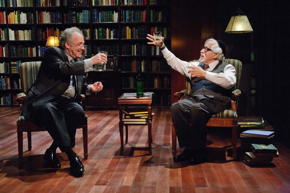 """Rick Foucheux (right) and Mike Nussbaum in Theater J's """"Imagining Madoff. Credit: C. Stanley Photography."""