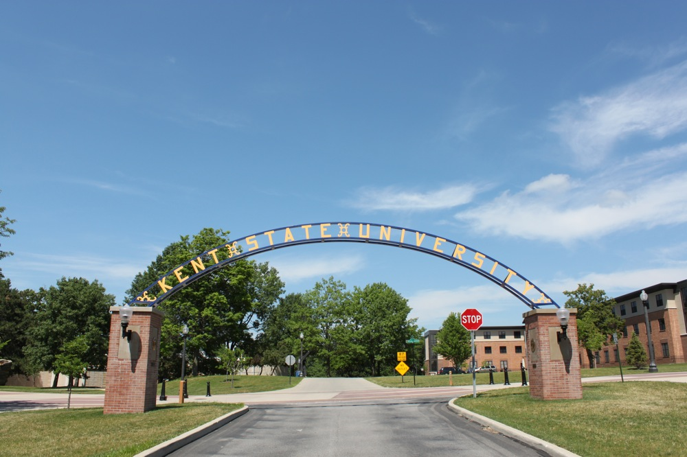 An arch at Kent State University. Credit: PD-US.