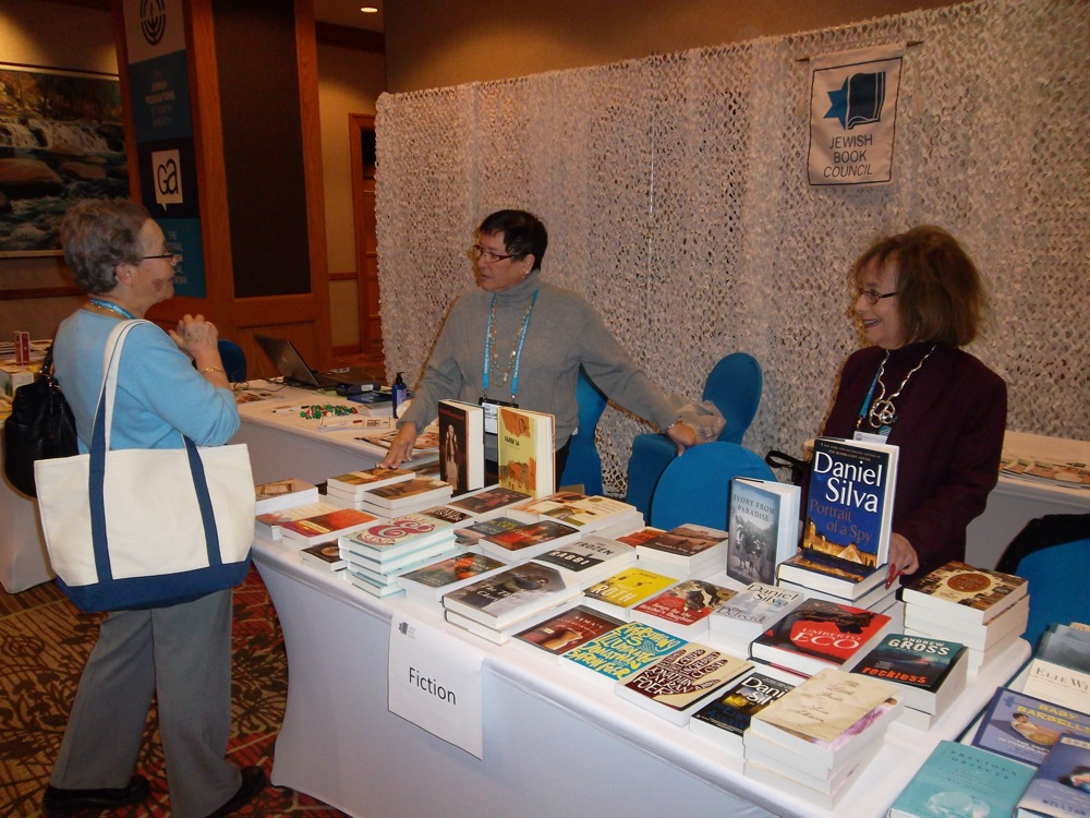 The Jewish Book Council's booth at the 2011 GA in Denver.