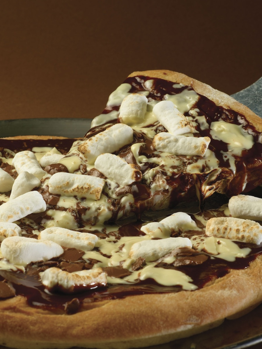 Click photo to download. Caption: Chocolate pizza at Max Brenner. Credit: Courtesy of Max Brenner.