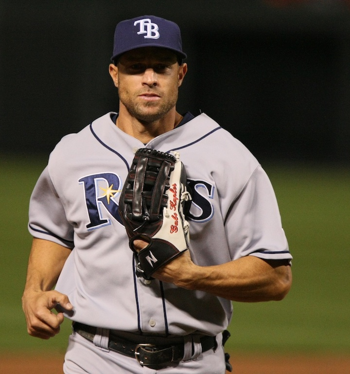"""Click photo to download. Caption: Former Major League outfielder Gabe Kapler, the possible manager of """"Team Israel,"""" which will try to qualify for the World Baseball Classic. Credit: Keith Allison."""