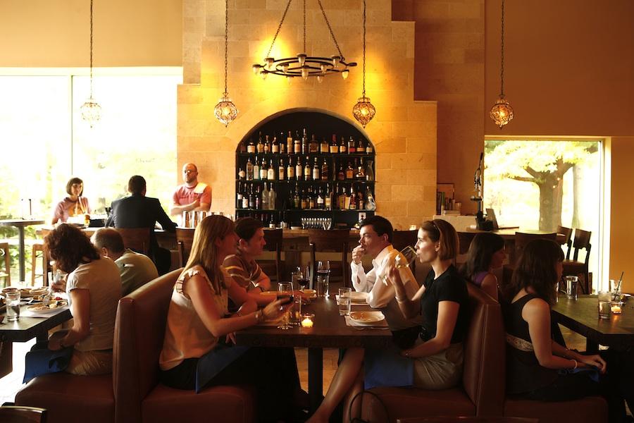 Click photo to download. Caption: Zahav's bar atmosphere. Credit: Jason Varney