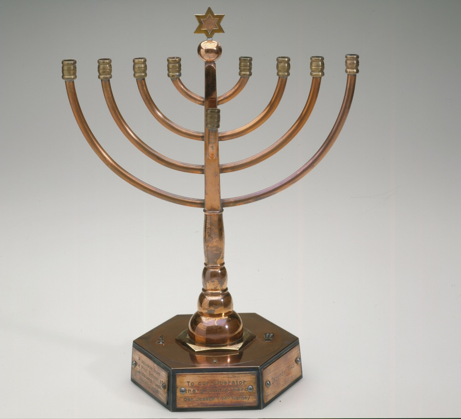 Click photo to download. Caption: A menorah from Germany selected by famed author-illustrator Maurice Sendak for a current exhibit at The Jewish Museum in New York. Courtesy The Jewish Museum.