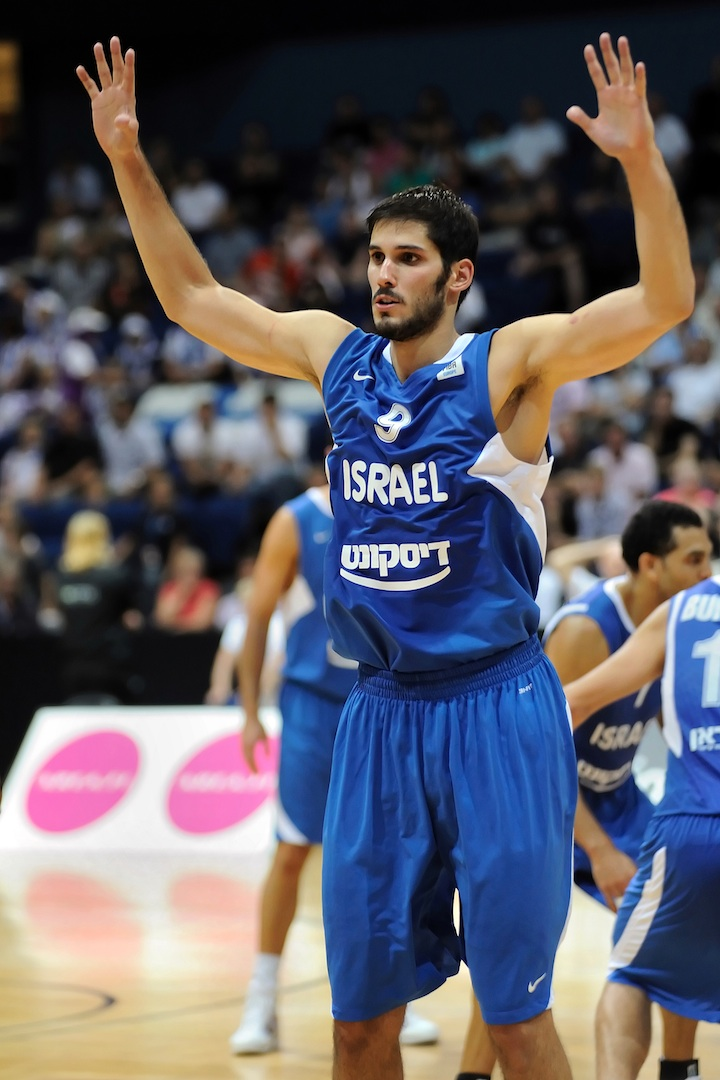 "Click photo to download. Caption: Tal Brody calls NBA forward Omrii Casspi (pictured) an ""unofficial ambassador"" for Israel. Credit: PD."