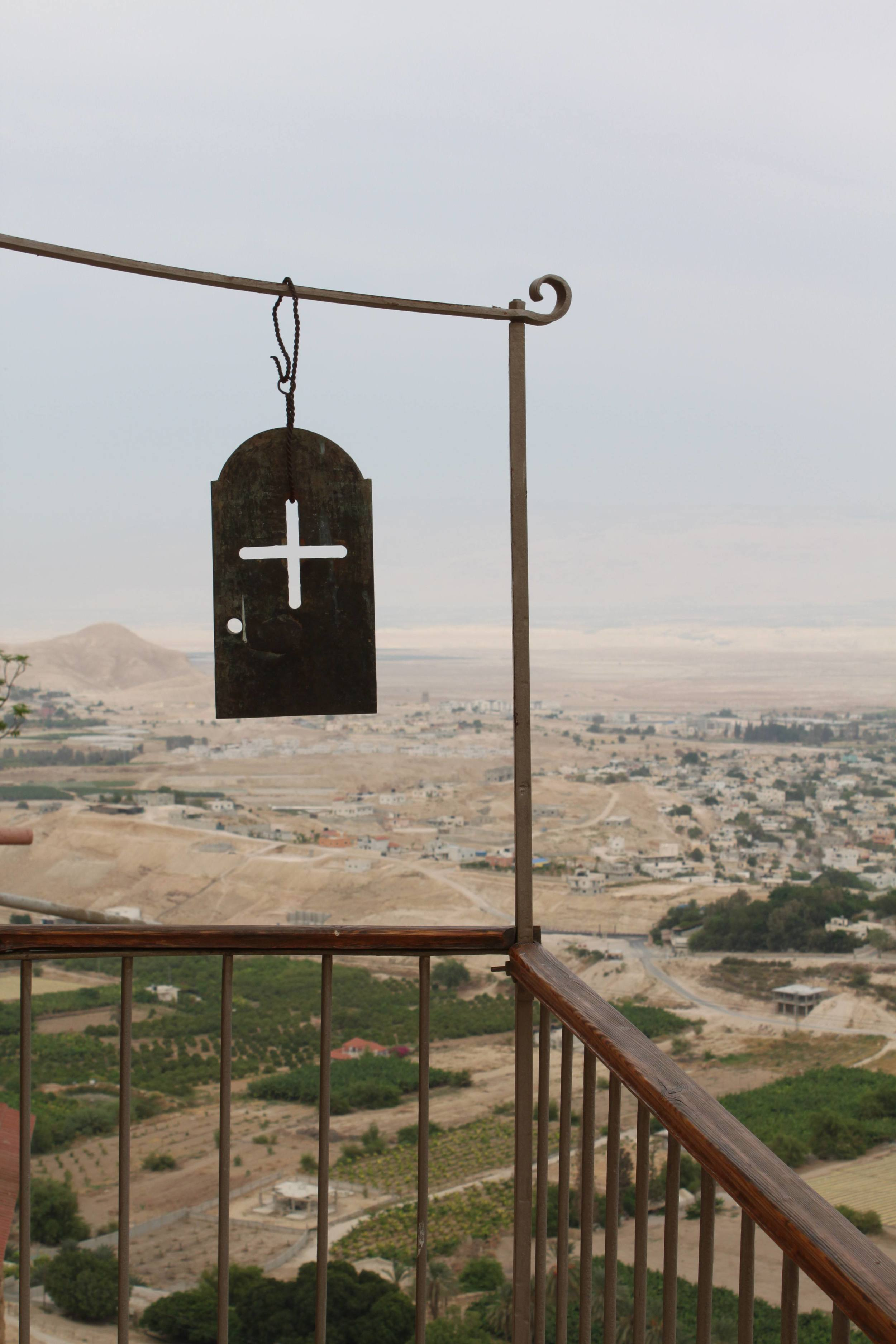 Click photo to download. Caption: Overlook Jericho from Mt. Temptation. Credit: Benjamin Balint.