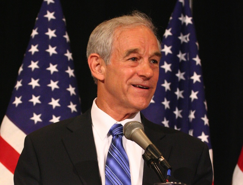 Click photo to download. Caption: Ron Paul. Credit: R. DeYoung.