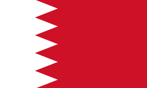 The flag of Bahrain. Credit: Wikimedia Commons.