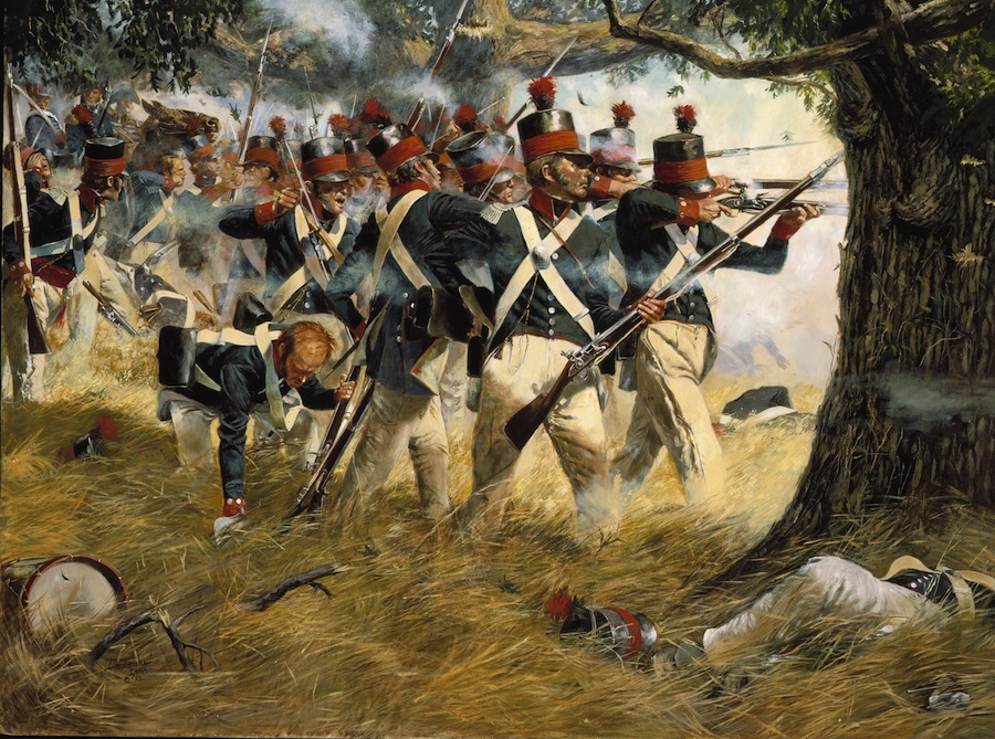 Click photo to download. Caption: An image depicting the Battle of North Point, in Maryland, on Sept. 12, 1814. Credit: U.S. Army.