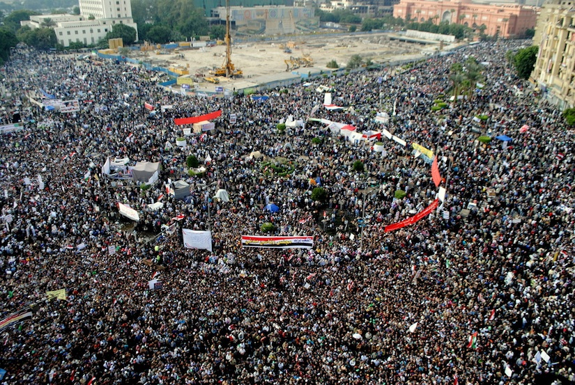 Click photo to download. Caption: The scene from Tahrir Square in Egypt. Credit: The Egyptian Liberal.