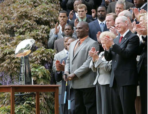 Click photo to download. Caption: The New York Giants, who are owned by the Jewish Tisch family, pose with the Vince Lombardi trophy to celebrate their 2008 Super Bowl victory. Credit: Paul Morse.