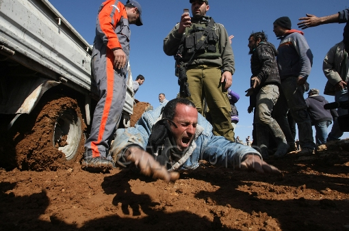 A recent AFP photograph allegedly depicting Israeli army brutality. Note: This is a screen grab and not the original photograph.