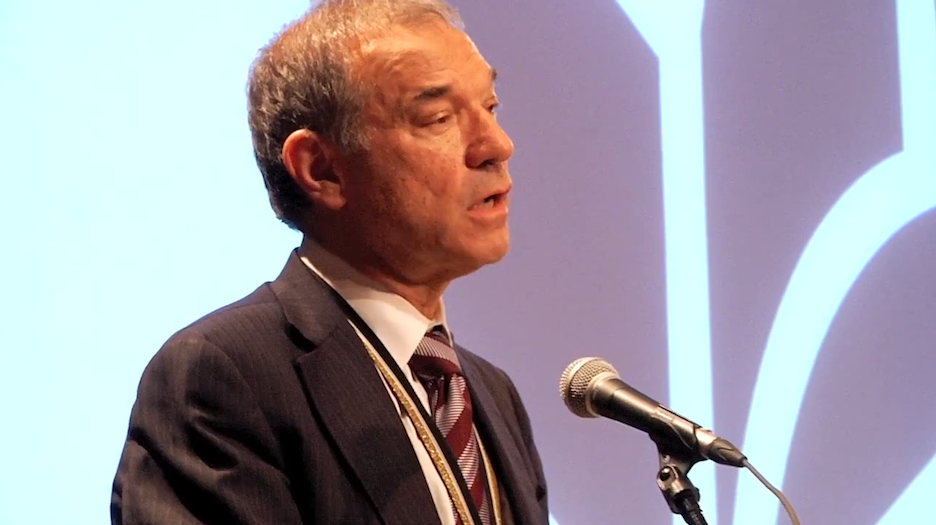 """Click photo to download. Caption: Stephen Greenblatt reads from """"The Swerve"""" at the 2011 National Book Award Finalists Reading. Credit: YouTube."""