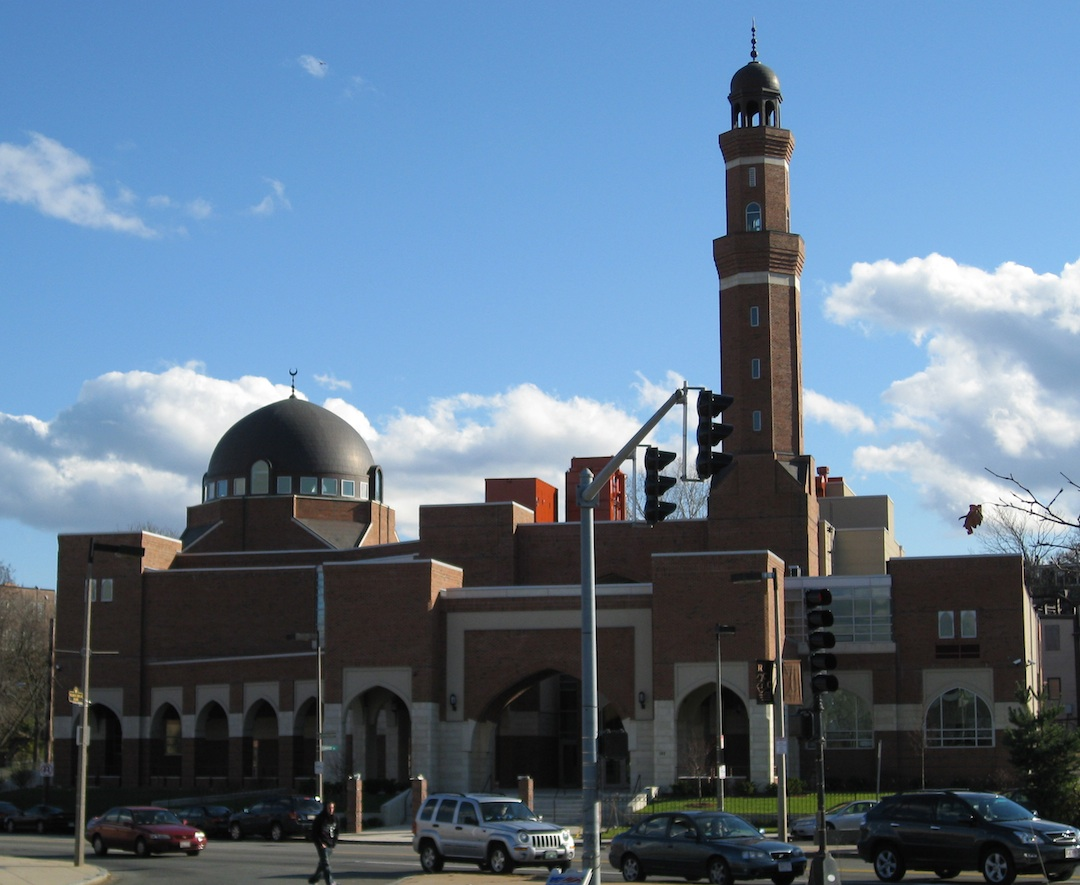Click photo to download. Caption: The Islamic Society of Boston Cultural Center in Roxbury Crossing, Mass., whose imam was replaced as the Muslim speaker for Thursday's interfaith service in Boston for the Boston Marathon attack victims. Credit: Biruitorul/Wikimedia Commons.