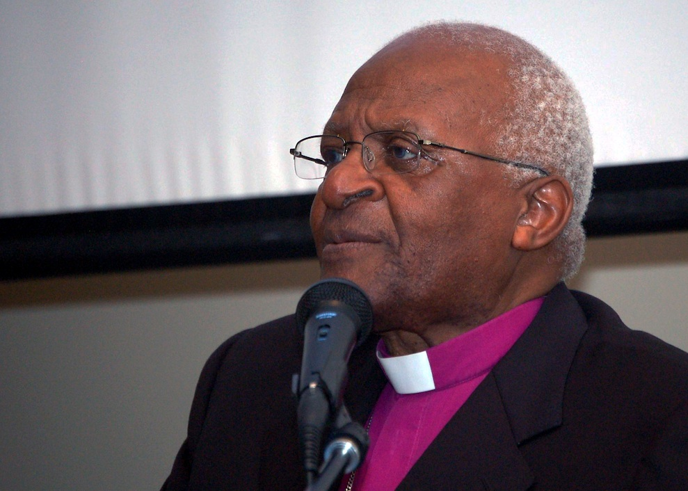Click photo to download. Caption: Archbishop Desmind Tutu, pictured, has energetically pushed the slander that Israel is actually worse than the old apartheid regime in South Africa. Credit: U.S. Navy.
