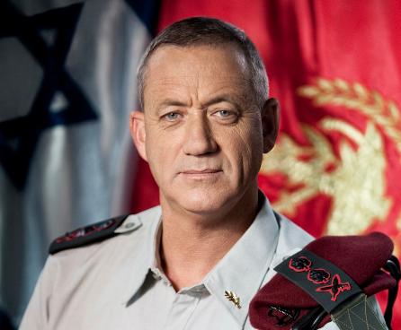 Click photo to download. Caption: IDF Chief of Staff Benny Gantz. Credit: IDF.