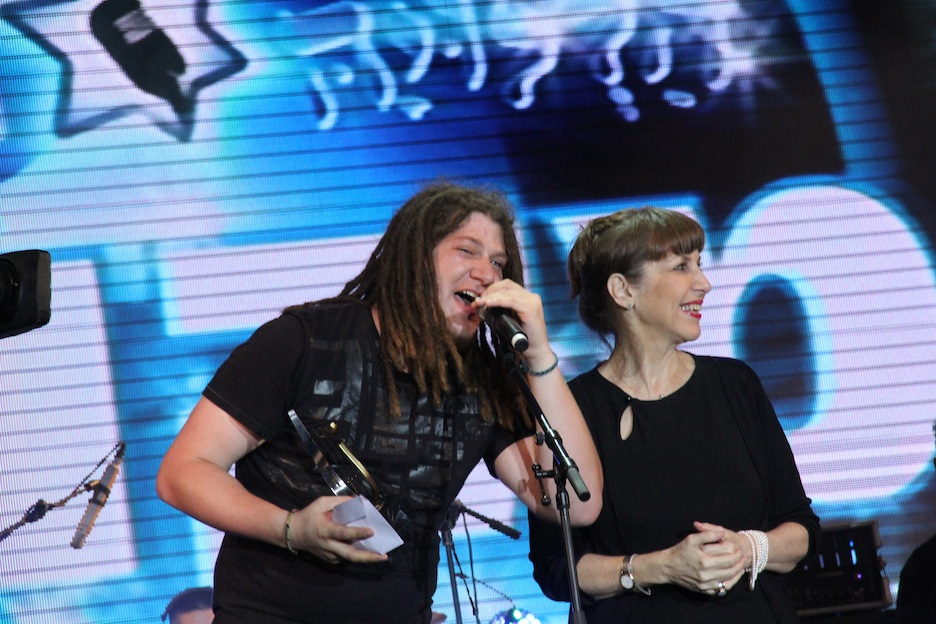 """Click photo to download. Caption: Adam Kleinberg after learning that he won the """"Hallelujah"""" competition in Israel. Credit: Aviv Hofi."""