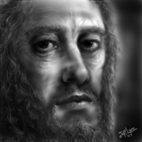 Click photo to download. Caption: A painting of Rabbi Akiva, who according to the Talmud saw 24,000 of his students die during the Omer period until the 33rd day, now known as Lag B'Omer. Credit: Jeff Makor via Myspace.