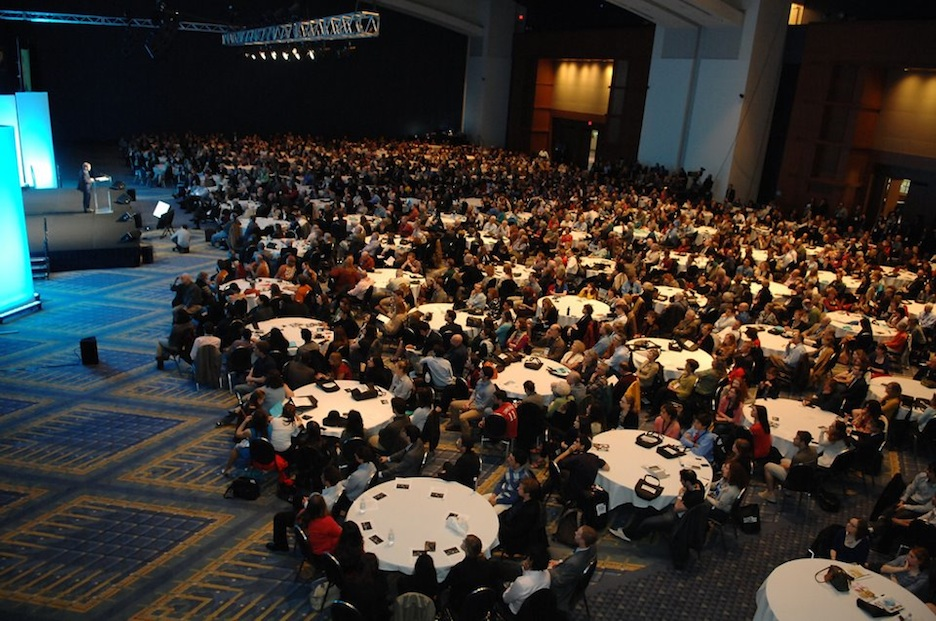 Click photo to download. Caption: The crowd on Saturday night at the opening plenary of J Street's 2012 conference. Credit: J Street.