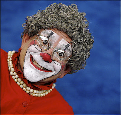 """Click photo to download. Caption: Barry Lubin as """"Grandma,"""" the Big Apple Circus star. Credit: Courtesy Barry Lubin."""