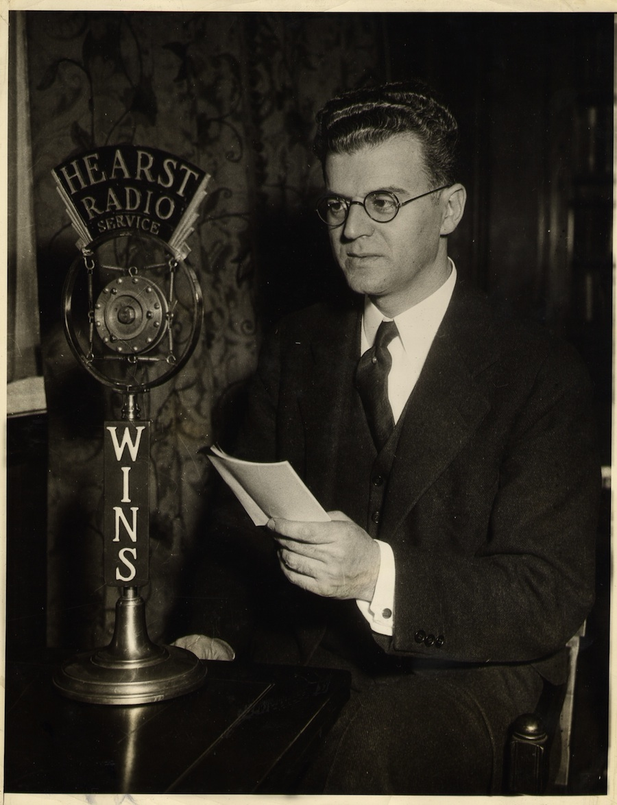 """Click photo to download. Caption: Rabbi Louis I. Newman of Manhattan's Rodeph Sholom synagogue, who headed the U.S. wing of the Revisionist Zionist movement, in 1937 denounced WNYC for airing """"anti-Jewish incitement."""" Credit: Courtesy of The David S. Wyman Institute for Holocaust Studies."""